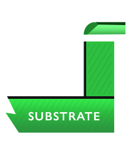 substrate illustrated