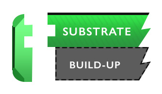 substrate build up illustrated